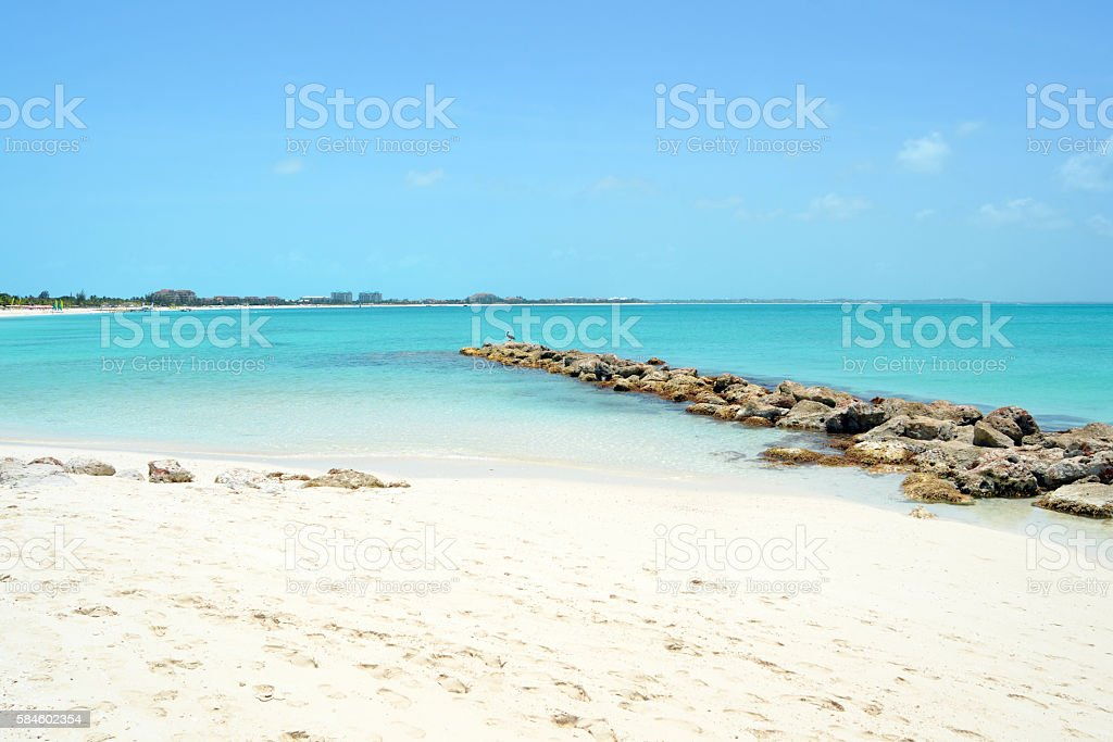 Providenciales in the Turks and Caicos stock photo