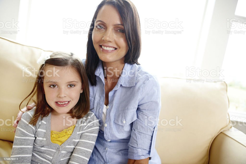 Providing a stable, loving home for her daughter royalty-free stock photo