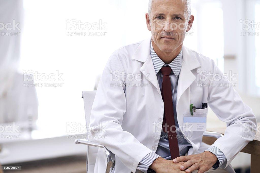 Providing confident care stock photo