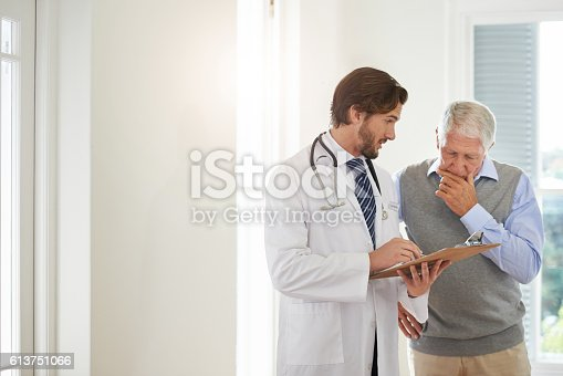 istock Providing the best medical care to his patient 613751066