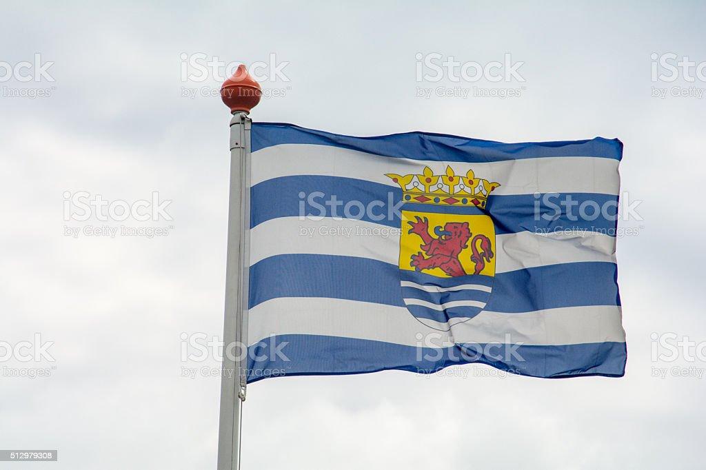 Province of Zeeland (sea land) Netherlands Flag stock photo