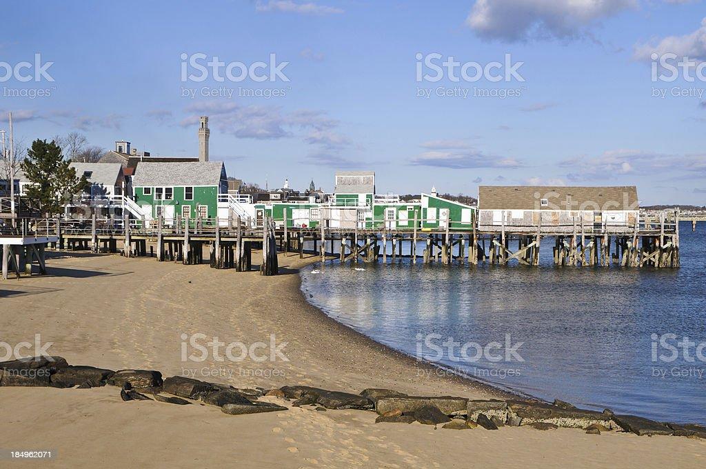Provincetown Fish Pier stock photo