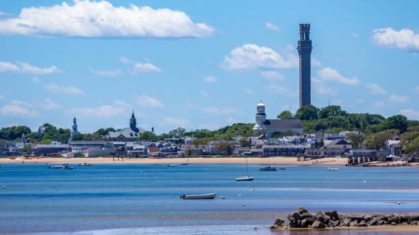 Provincetown Harbor Cape Cod stock photo