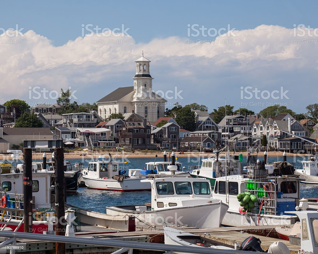 Provincetown Harbor Town View stock photo