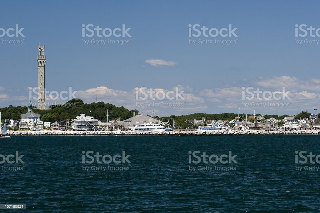 Provincetown view stock photo