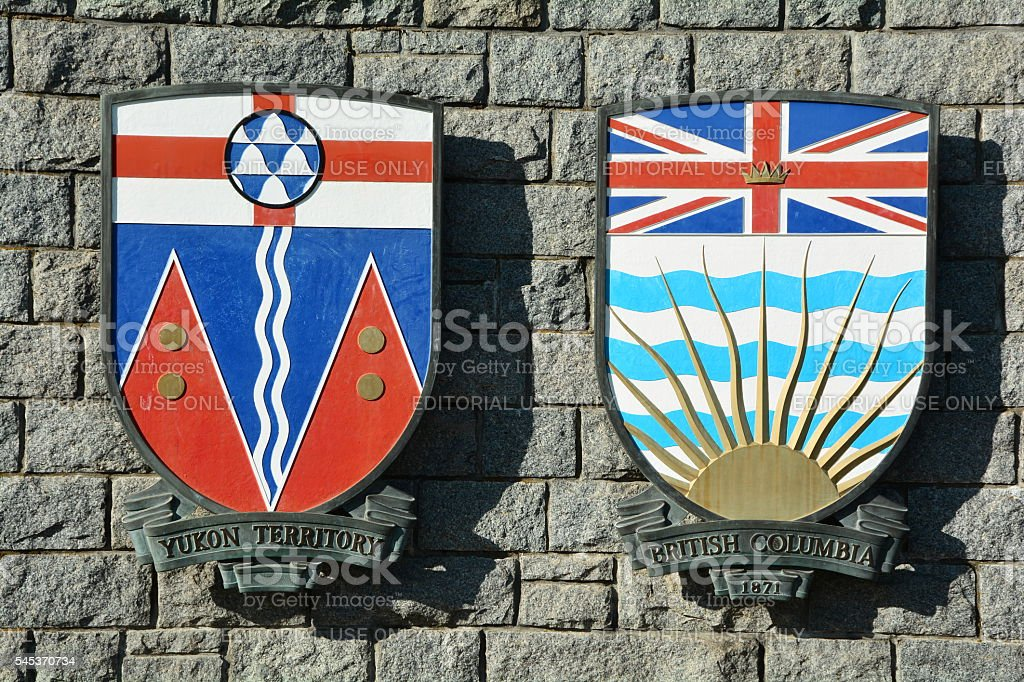Provincial And Territorial Canadian Coats Of Arms Stock