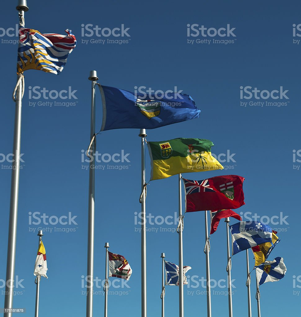 Provincial Flags stock photo