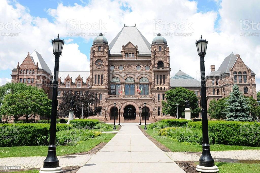 Provincial edificio del parlamento de toronto stock foto for Foto del parlamento