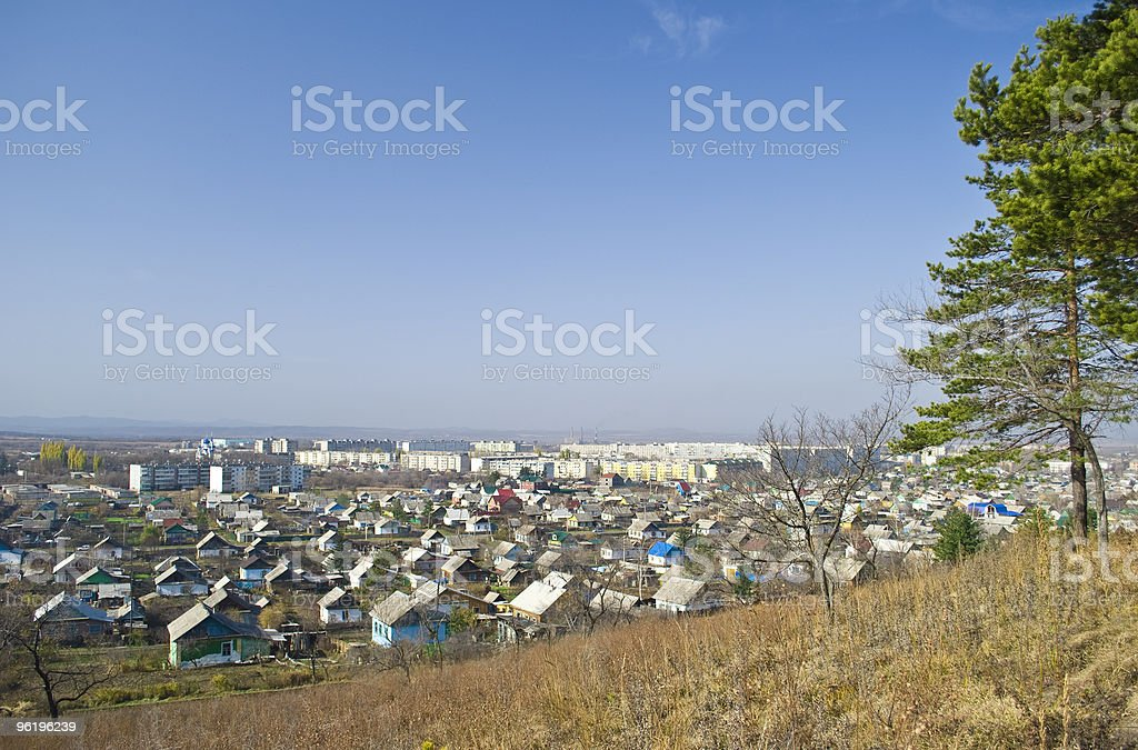 Provincial small town. Arsenyev. stock photo