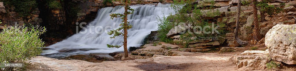 Provo River Falls panorama stock photo