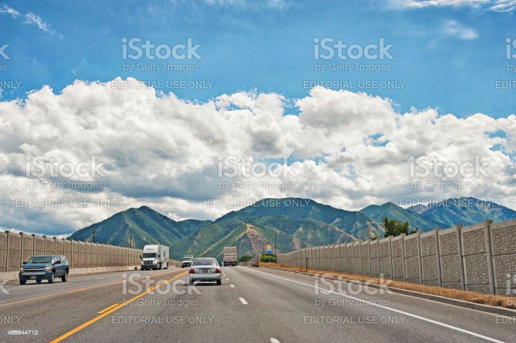 Provo Utah Highway stock photo
