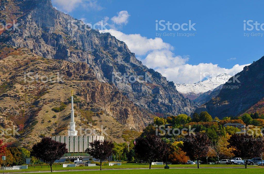 Provo Utah Temple stock photo