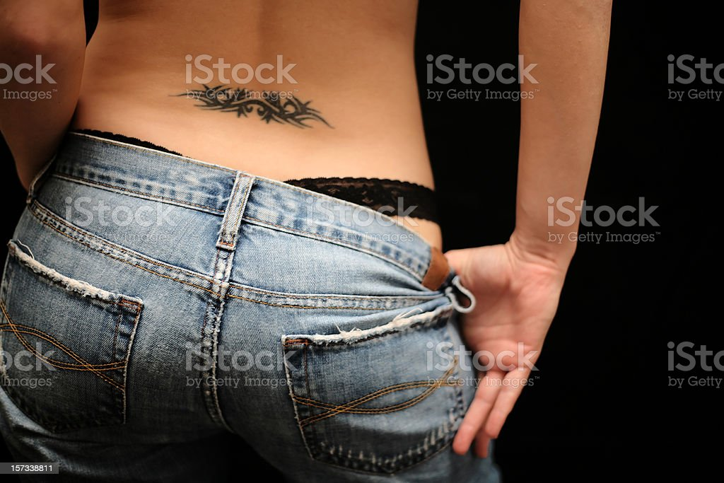 Provocative Tattoo stock photo