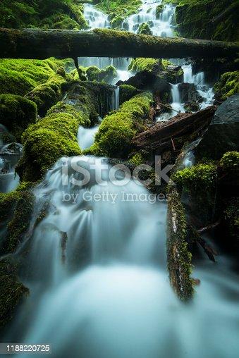 Waterfall, Water, Oregon - US State, River, Cascade Range