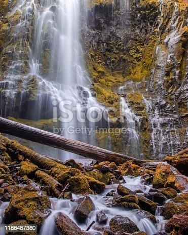 Beautiful waterfall south of sisters oregon