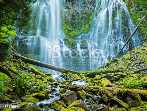 Proxy Falls (sometimes known as Lower Falls or Lower Proxy Falls) in the Willamette National Forest of Central Oregon.