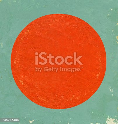 istock Prussian and Orange circle background 849715404