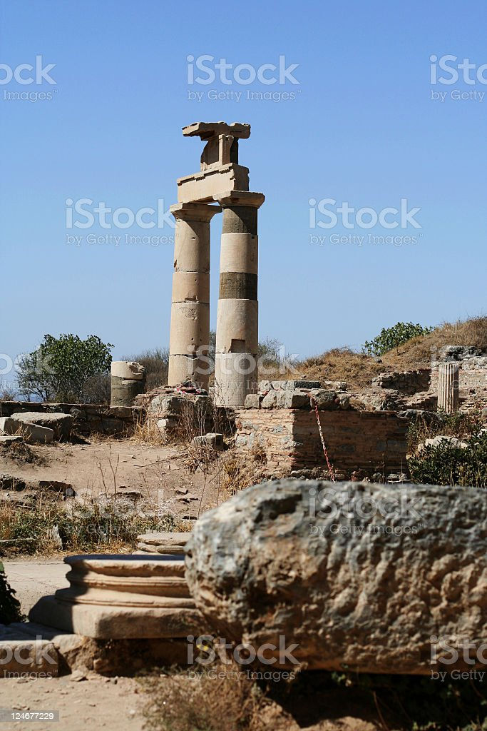 Prytaneion at Ephesus royalty-free stock photo