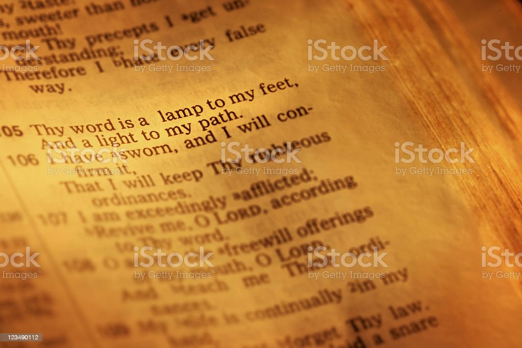 Psalm 119 stock photo