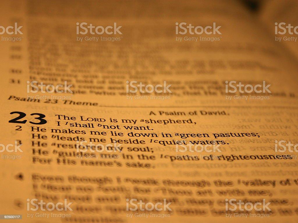 Psalm 23, II royalty-free stock photo