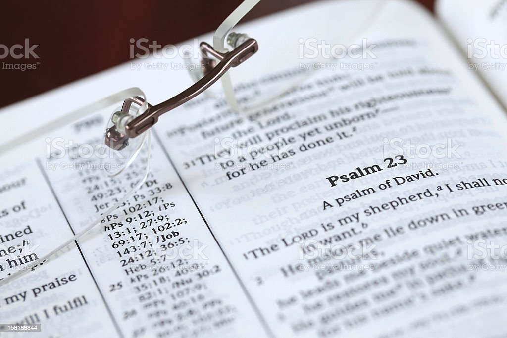 Psalm 23 stock photo