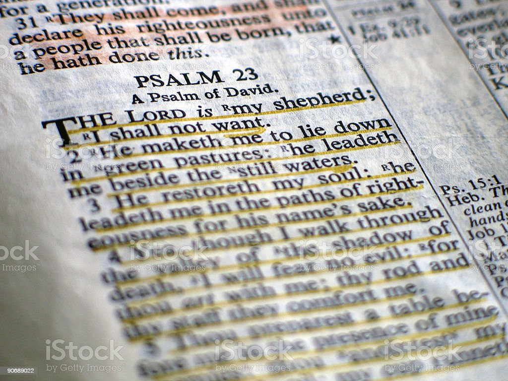 Psalm 23 royalty-free stock photo