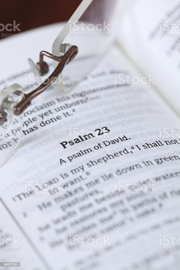 Psalm 23 royalty-free stock photo