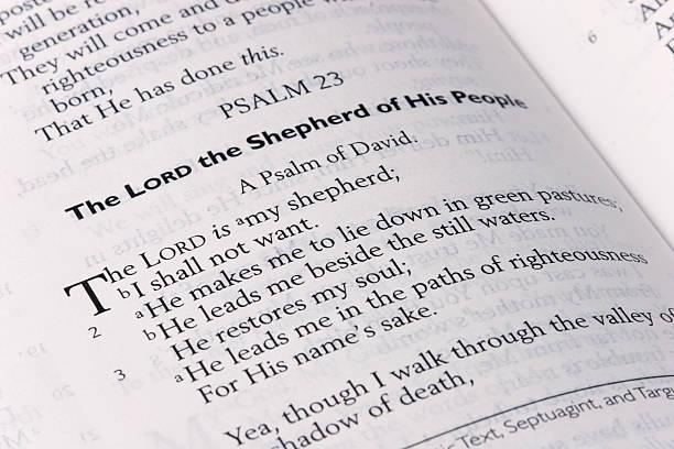 psaltery 23 schriften eingemeißelt - psalm stock-fotos und bilder