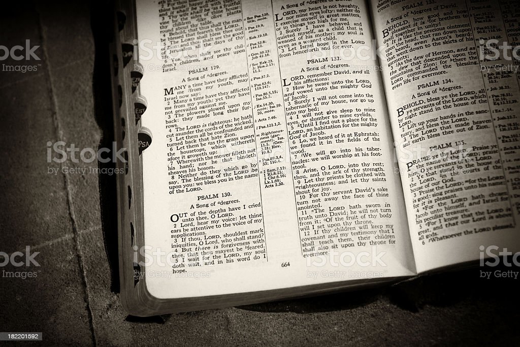 Psalms and stone royalty-free stock photo