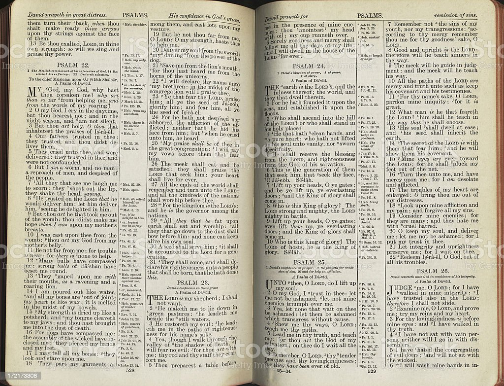 Psalms Book stock photo