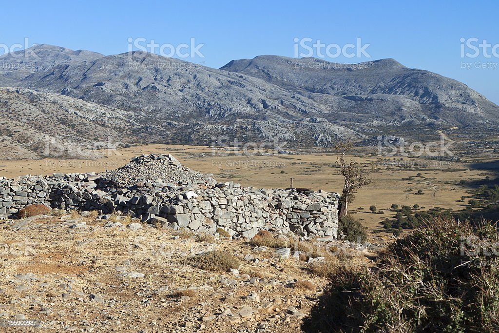 Psiloritis mountain at Crete island, Greece stock photo