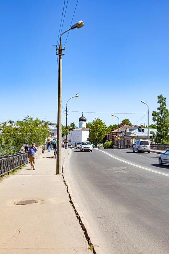 Pskov Bridge over the Pskova River