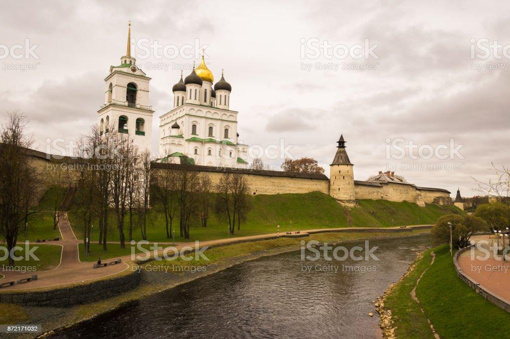 Pskov Kremlin in Russia stock photo