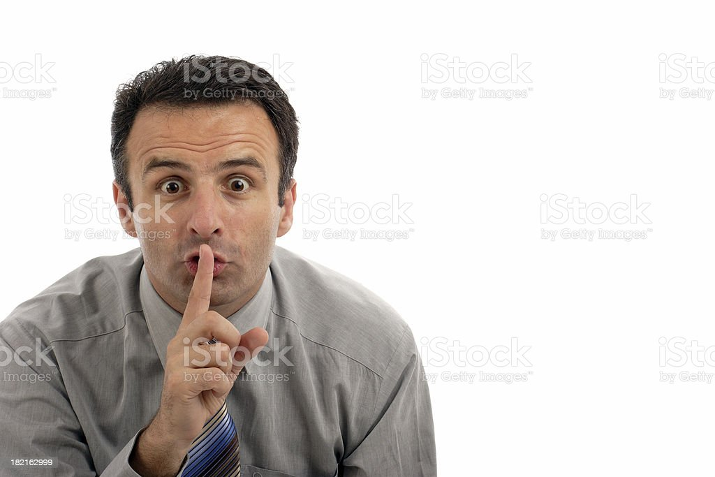 Psssst royalty-free stock photo