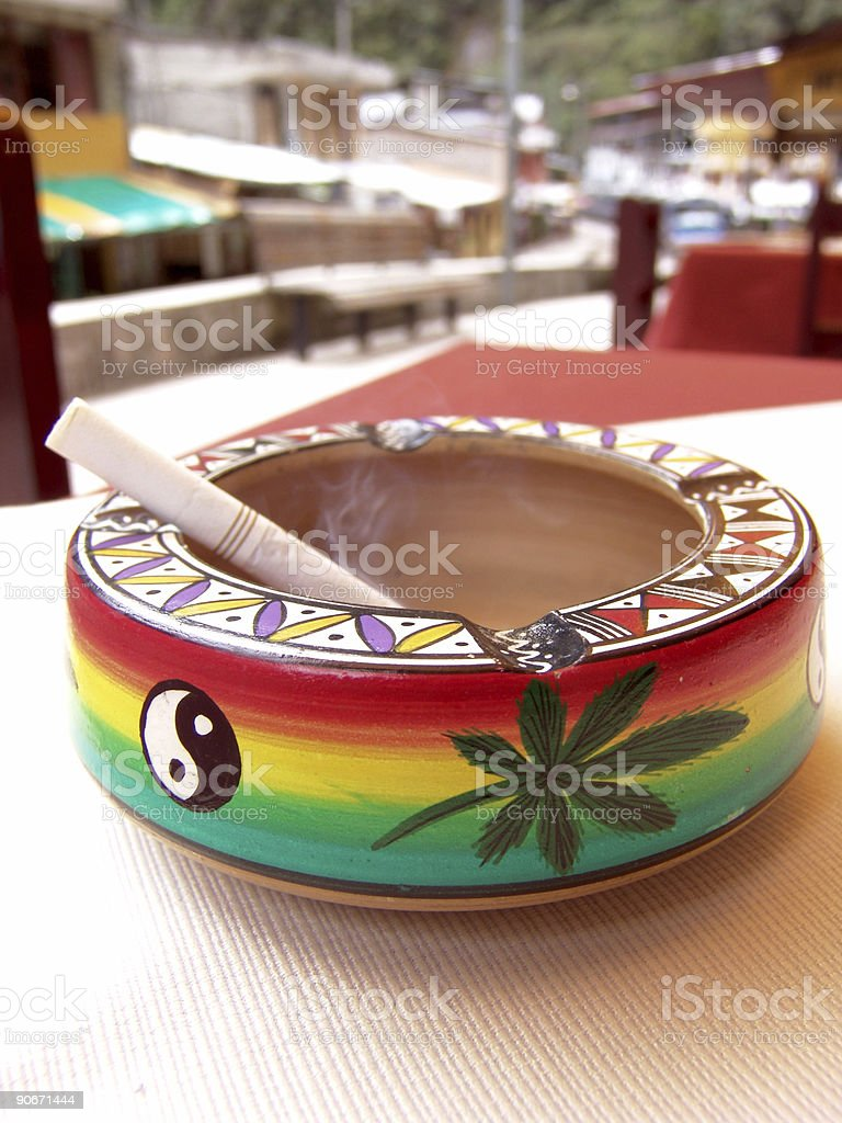 Psychedelic Ashtray stock photo