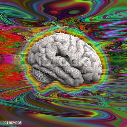 istock Psychedelic Brain 1014924208