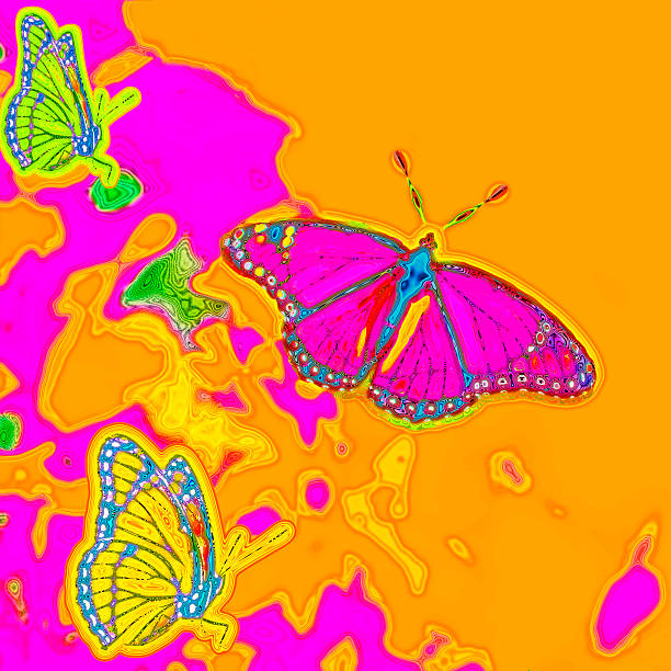 Psychedelic Butterflies stock photo