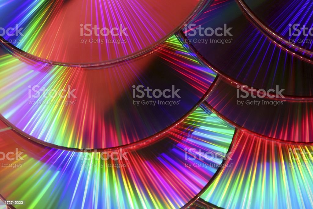 Psychedelic CD Background royalty-free stock photo