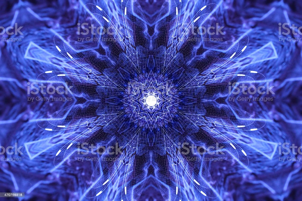 Psychedelic Fractal Art with Sacred Geometry stock photo