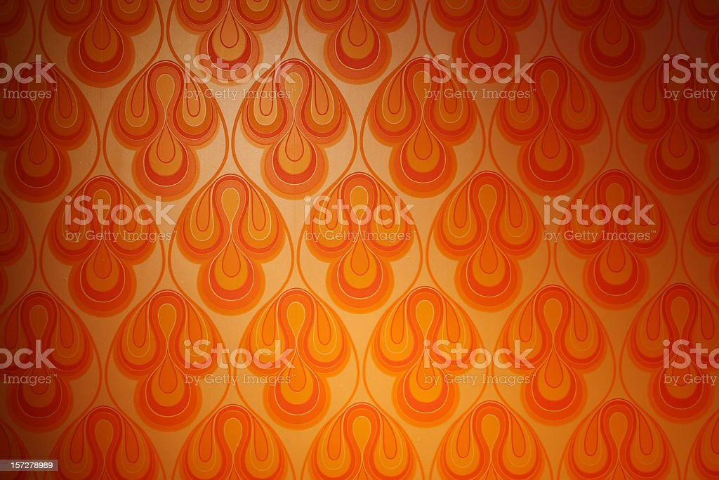 Psychedelic funky retro 1970s wallpaper stock photo