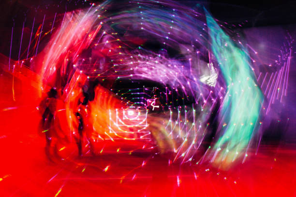 Psychedelic lights Psychedelic lights electronic music stock pictures, royalty-free photos & images