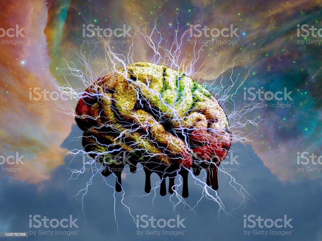 Psychedelische geest smelten foto