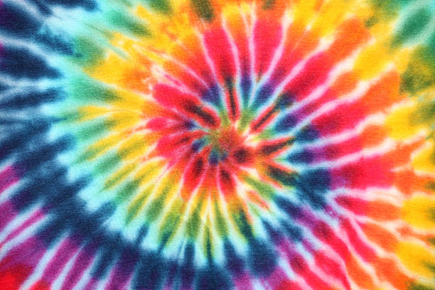Psychedelic Tie Dye Fabric stock photo