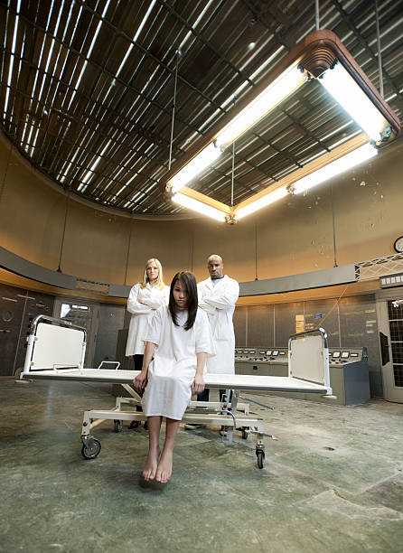 psychiatric patient and nurses xxxl image - psychiatric ward stock photos and pictures