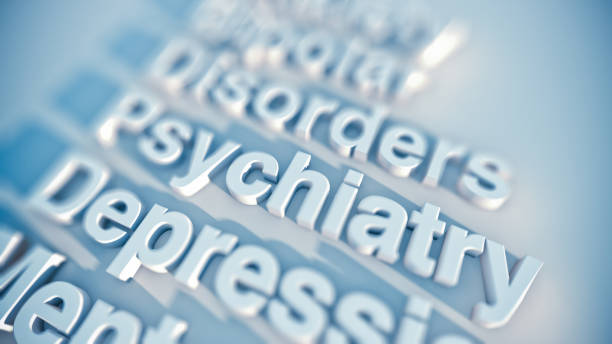 Psychiatry and depression stock photo