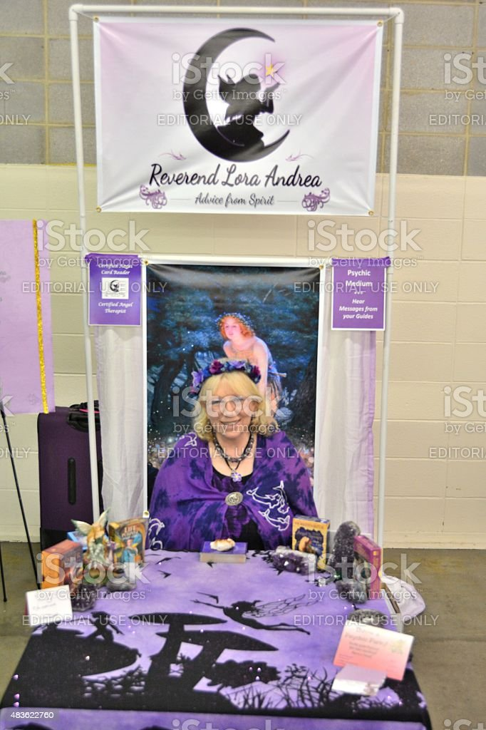 Psychic at the Denver County Fair stock photo