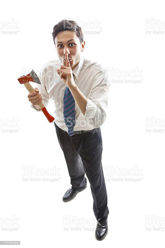 Psycho Businessman royalty-free stock photo