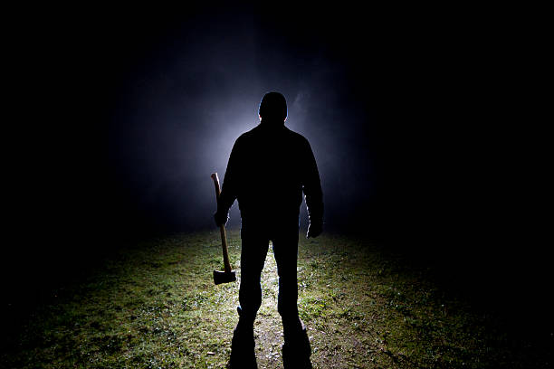 psycho killer - axe - killer stock pictures, royalty-free photos & images