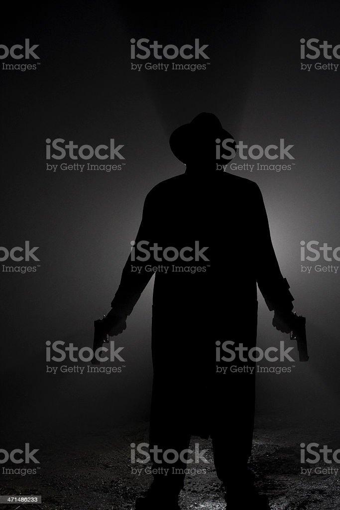 Psycho Killer - Dual Handgun Wielding stock photo