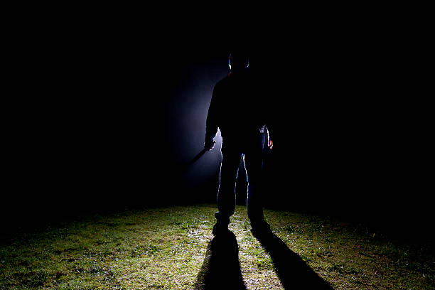Psicose Killer-faca - foto de acervo
